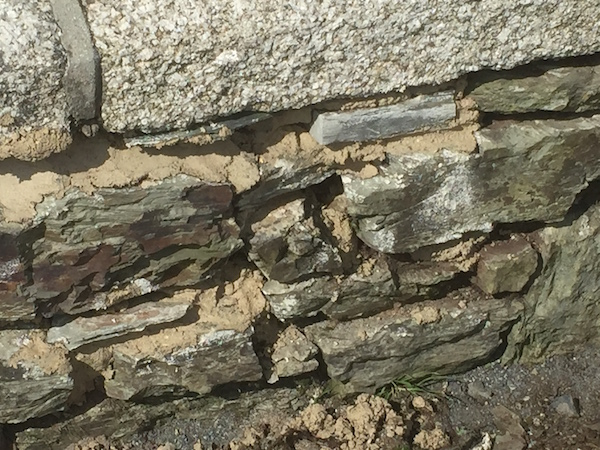 This is Hayle Bridge West Cornwall Lime re-pointing