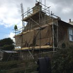 St Ives Lime rendering a building