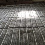 St Buryam Cornwall Under floor heating limecrete flooring