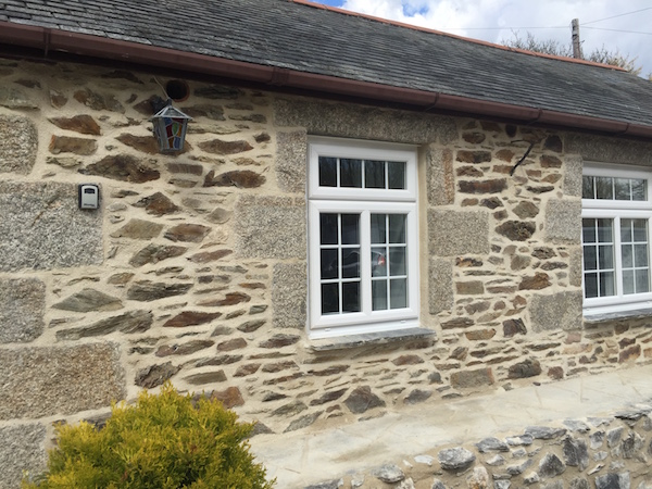 Lime pointing a holiday home in Cornwall
