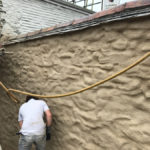 Lime Rendering in Falmouth, Cornwall